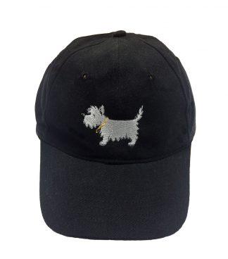 White Dog Cap / Westie Ball Cap #504 classic black