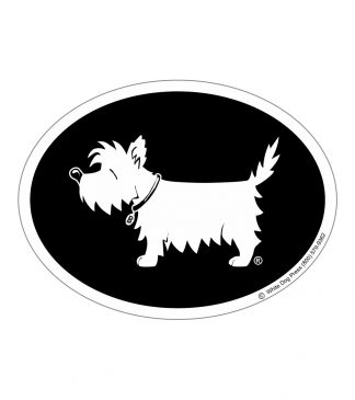 white dog sticker westie sticker #505