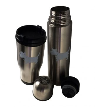 White Dog Travel Mug / Westie Travel Mug #511-thermal-set