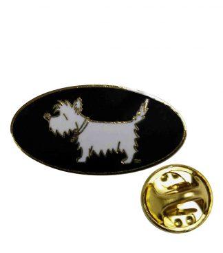 Westie pin, #515 White Dog Lapel Pin