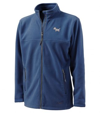 Westie Fleece Jacket / White Dog Fleece Jacket 516 fleece jacket Antique Blue