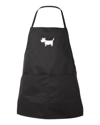 Westie Chef's Apron / White Dog Apron #519