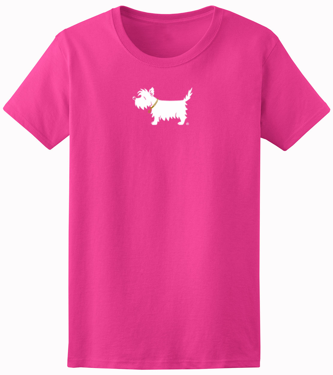 Ladies 39 westie t shirt white dog ladies 39 trendy t shirt for Trendy t shirts for ladies